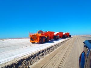 Salt truck waiting to collect salt