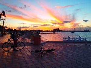 sunset on the malecon , La Paz