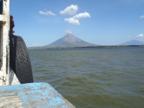 View of Ometepe from the boat