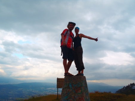 Hen & Chelsea on the summit of Ilalo, an extinct volcano outside Quito
