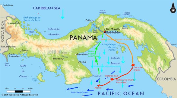 Panama Map diagram