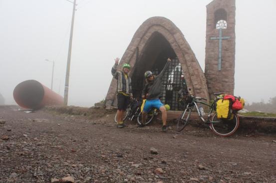 Super high at 4000m Papallacta Pass!