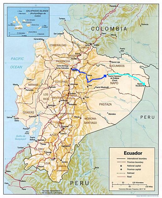 Quito to Coca by bike.. then Coca to Rocafuerte via Rio Napo!
