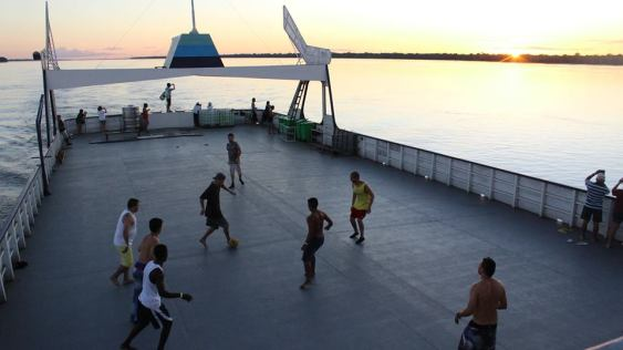 In Brasil, anywhere can become a footy pitch!