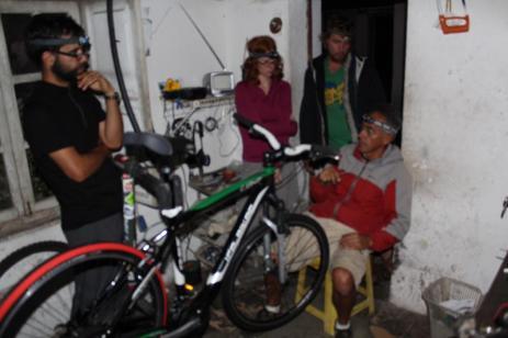 Wrenchin on Jacks new bike at Santi's