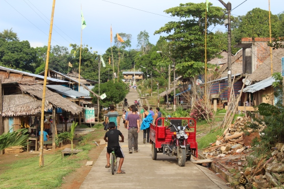 Santa Clotilde, Peru, one of the bigger villages on the Napo