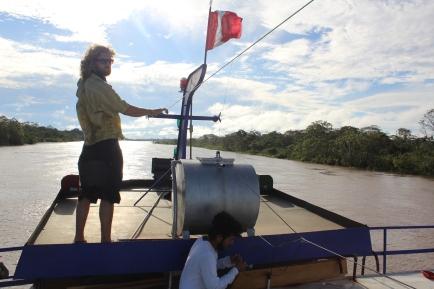 Captain Jack, guiding us through Peruvian Amazon