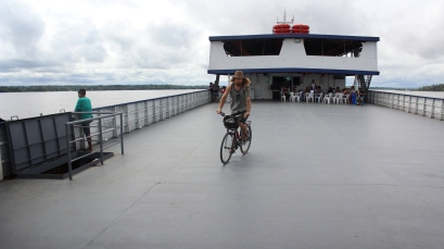 bike touring on the boat