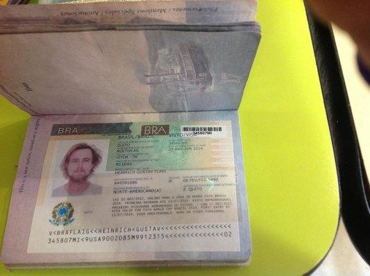 Freshly processed BRASIL Visa!!