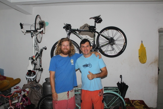 Jack and Moab, our amazing hosts in Natal. Moab and his girl friend have bike toured in Czech Republic and Austria!