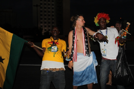 hangin with the Ghana Black Stars!